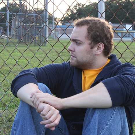 Alex Rybacki sits in front of a fence at Ritter Field in Atco on September 15.